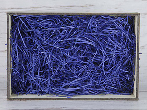 Бумажный наполнитель для оформления подарков. Цвет - Синий 30 гр.