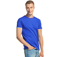 Мужская футболка «триколор» EkaterinaCity 1402 Синий M/48