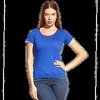 Женская футболка «триколор» EkaterinaCityWomen 14W02 Синий XS/42