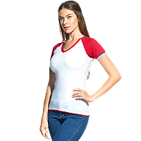 Спортивная футболка «триколор» MoscowStyleWomen 14W021 Белый XXL/52