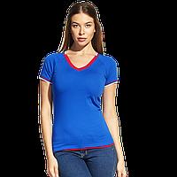 Спортивная футболка «триколор» MoscowStyleWomen 14W021 Синий XXS/40