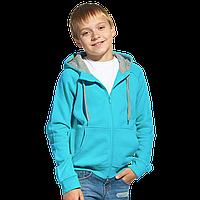 Детская толстовка StanStyleJunior 17J Бирюзовый-Серый меланж 6 лет