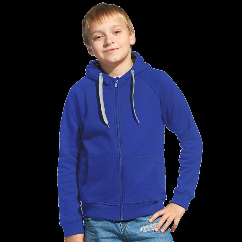 Детская толстовка StanStyleJunior 17J Синий-Серый меланж 8 лет
