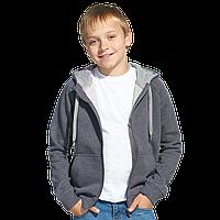 Детская толстовка StanStyleJunior 17J Тёмный меланж-Серый меланж 12 лет