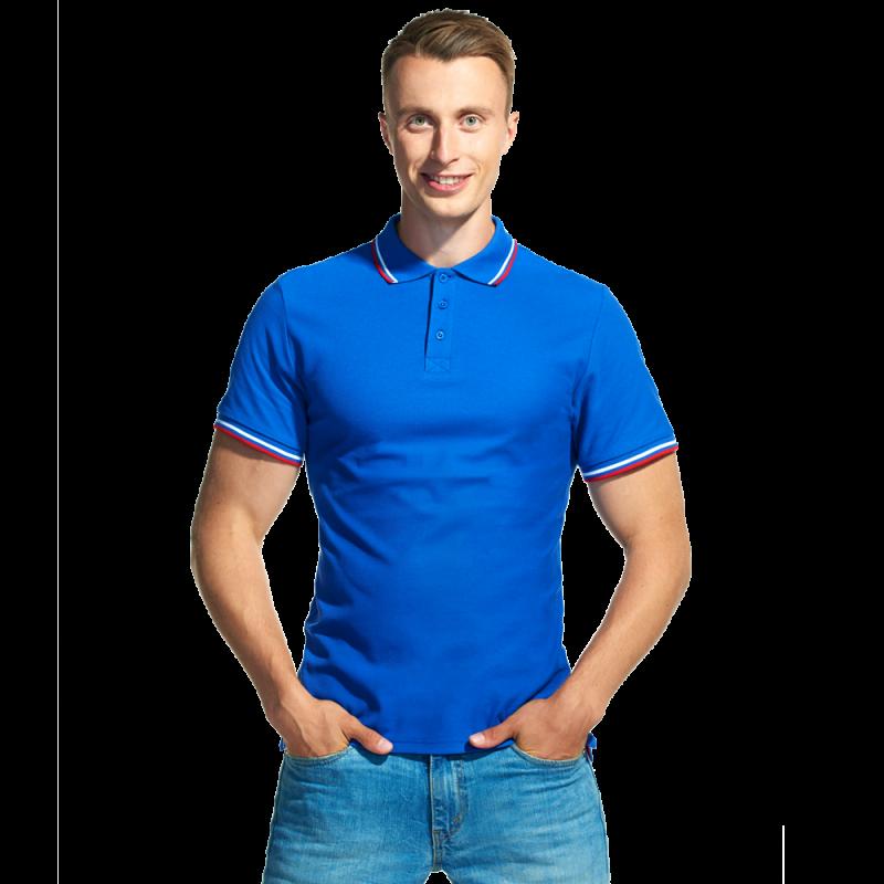 Мужская рубашка поло «триколор» StanRussian 04RUS Синий XXL/54