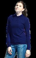 Рубашка поло сдлинным рукавом StanPoloWomen 04SW Тёмно-синий L/48