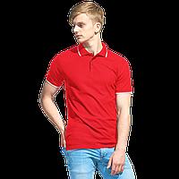 Мужская рубашка поло с отделкой StanTrophy 04T Красный 4XL/58