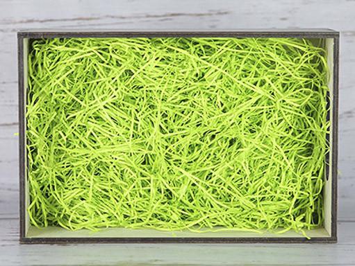 Бумажный наполнитель для оформления подарков. Цвет - Зеленый (HP) 30 гр.