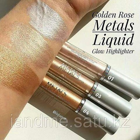Жидкий Хайлайтер Golden Rose Metals Liquid Glow Highlighter