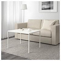 Журнальный стол/2-сторон столешница НИБОДА белый/серый ИКЕА, IKEA