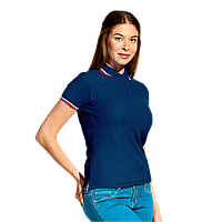 Женская рубашка поло  «триколор» StanRussianWomen 04WRUS Тёмно-синий L/48