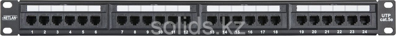 Патч-панель 1U 24 порта Кат.5e RJ45/8P8C, экранированная