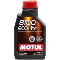 Синтетическое моторное масло MOTUL 8100 ECO-LITE 0W-20  1 литр