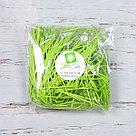 Бумажный наполнитель для оформления подарков. Цвет - Зеленый (HP) 30 гр., фото 2