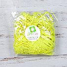 Бумажный наполнитель для оформления подарков. Цвет - Желтый (HP) 100 гр., фото 2