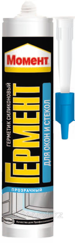 Герметик силиконовый МОМЕНТ для окон и стекол (белый) 280 мл.
