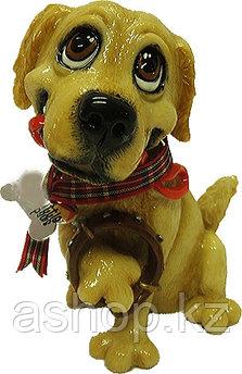 Статуэтка декоративная Arora Собака Ретривер Барни, Высота: 130 мм, Материал: Керамистоун, Цвет: Коричневый, (