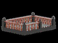 Гранитная площадка с оградой №3