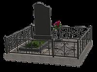 Комплекс мемориальный гранитный на 1 могилу МКГ28
