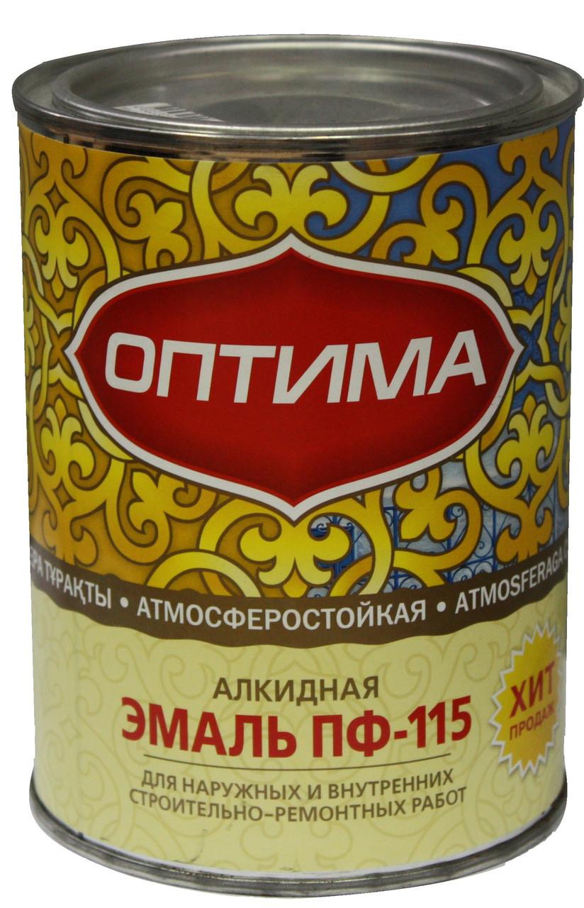 """Эмаль ПФ-115 """"Оптима"""" серая 1.9кг"""