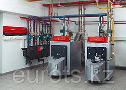 Этапы монтажа напольного газового котла