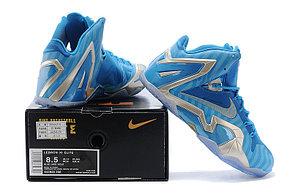 Баскетбольные кроссовки Nike Lebron 11 (XI) Elite Series синие, фото 2