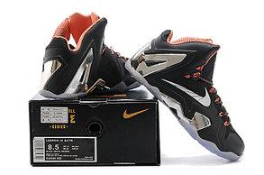 Баскетбольные кроссовки Nike Lebron 11 (XI) Elite Low черный и серебро, фото 2