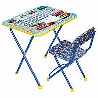 Детский стол Ника стол+мягкий стул Большие Гонки КП2/12