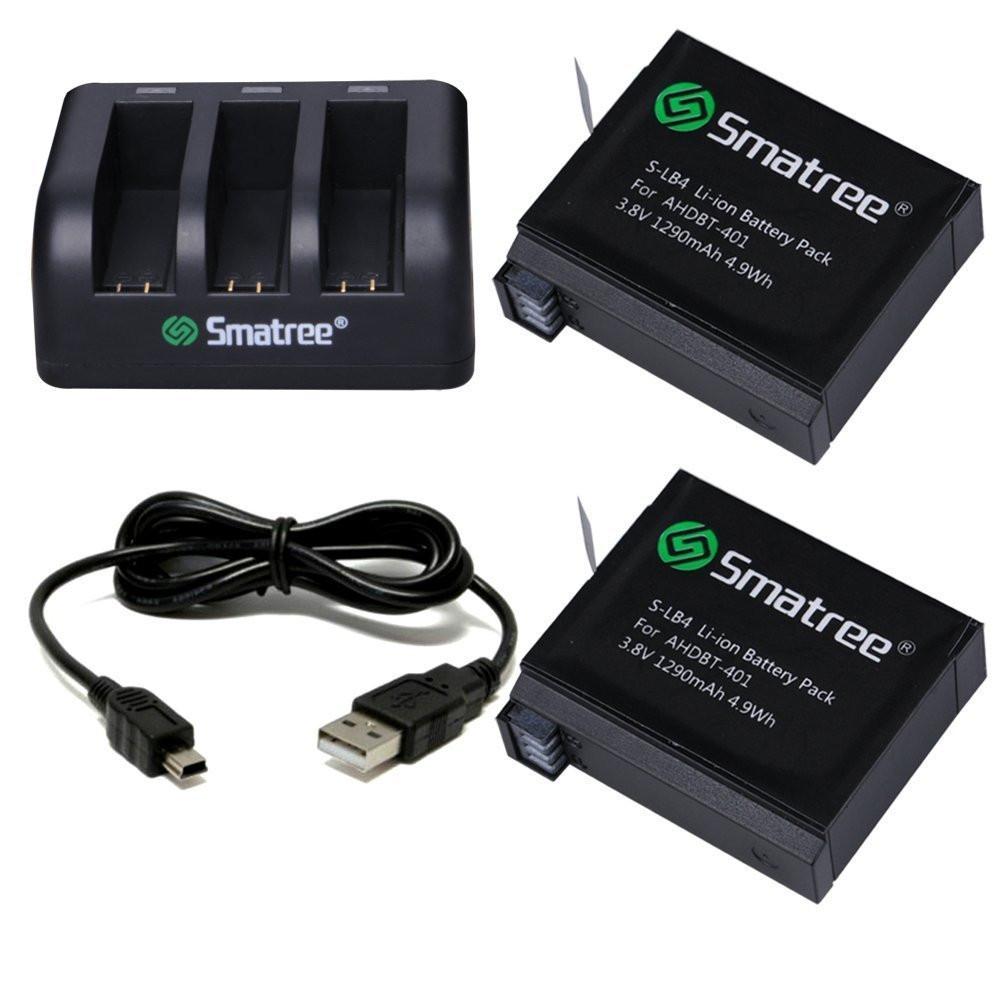 Комплект аккумуляторов Smatree® SM-004 для GoPro HERO 4 Lite