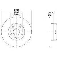 Тормозные диски Toyota Carina E (92-07, передние, Optimal), фото 1