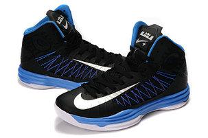 Nike Lunar Hyperdunk X  баскетбольные кроссовки черно-синие, фото 2