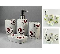 Набор аксессуаров для ванны 4 предмета керамический, 2136