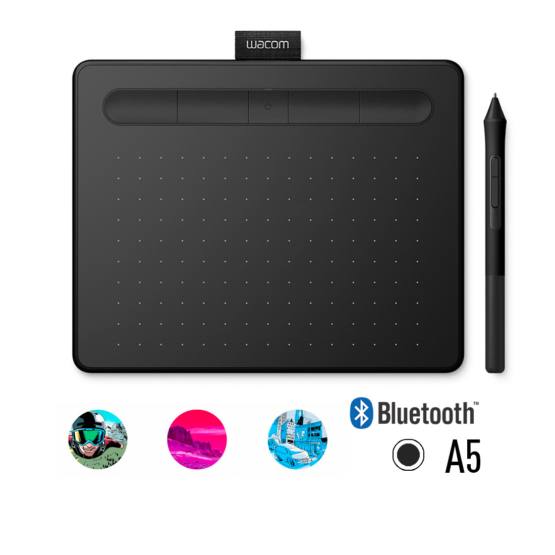 Графический планшет Wacom Intuos Medium Bluetooth (CTL-6100WLK-N)