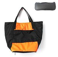 Сумка складная Magic Bag [25 л] с кармашками и чехлом (Оранжево-черная)