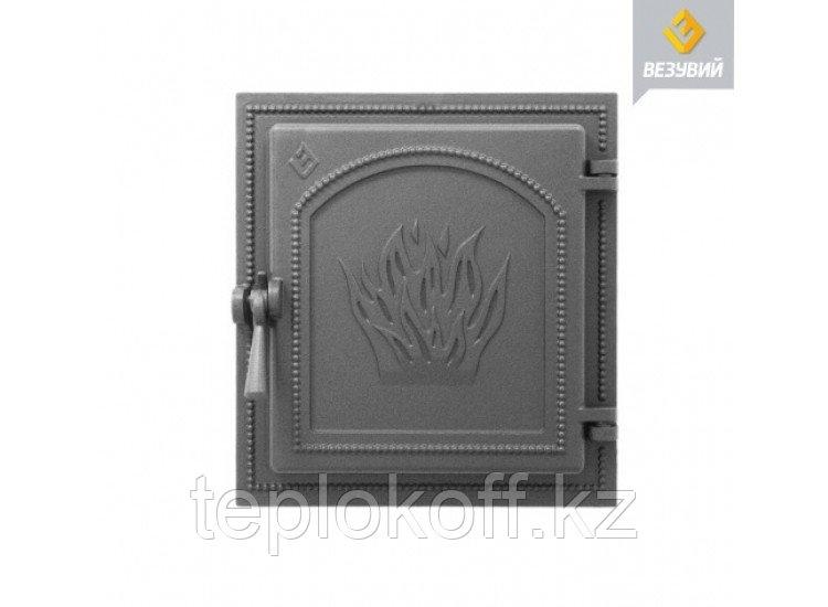 Дверь каминная чугунная Везувий (271), антрацит (Везувий)