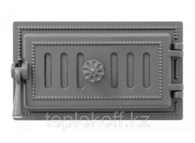 Дверь поддувальная чугунная Везувий (236), антрацит (Везувий)