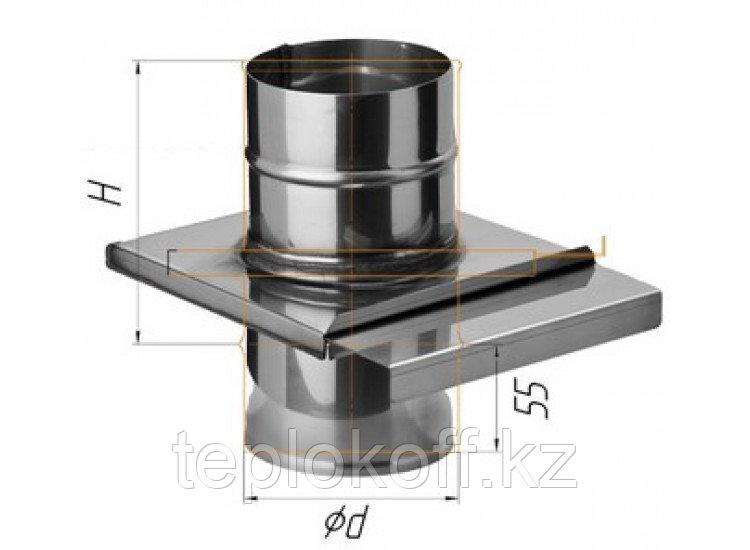 Задвижка (шибер выдвижной) D=200, AISI 430, 0,8 мм (Феррум)