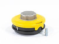 Катушка триммепная полуавтоматическая, легкая заправка лески, гайка M10x1,25, винт M10-M10, алюминиевая кнопка DENZEL