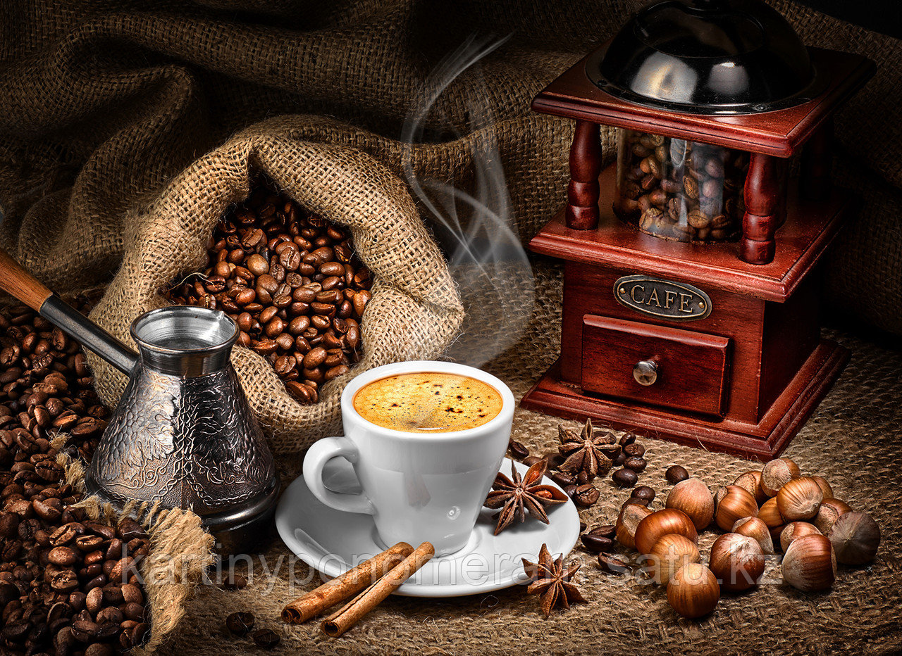 "Картина по номерам ""Натюрморт кофе со специями"""