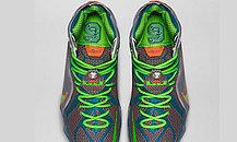 Баскетбольные кроссовки Nike Lebron 12 Elite Series синий и оранжевый, фото 2