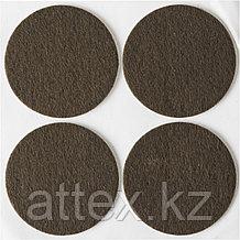"""Накладки STAYER """"COMFORT"""" на мебельные ножки, самоклеящиеся, фетровые, коричневые, круглые - диаметр 50 мм, 4 шт 40910-50"""