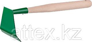 Мотыжка малая, РОСТОК 39662, с деревянной ручкой, ширина рабочей части - 85мм