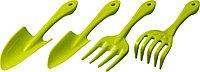 Набор садовый РОСТОК пластиковый, 4 предмета: Вилка, грабельки, 2 совка 421429-H4