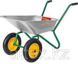 Тачка GRINDA садовая двухколесная, 80 л, грузоподъемность 120 кг  422400_z01