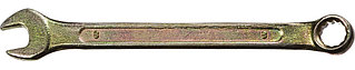 Ключ комбинированный гаечный DEXX, желтый цинк, 8х8 мм 27017-08
