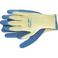 Перчатки хлопчатобумажные, латексное рельефное покрытие, XL// СИБРТЕХ