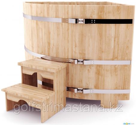 Купель д*в 130*120 см / угловая / кедровая