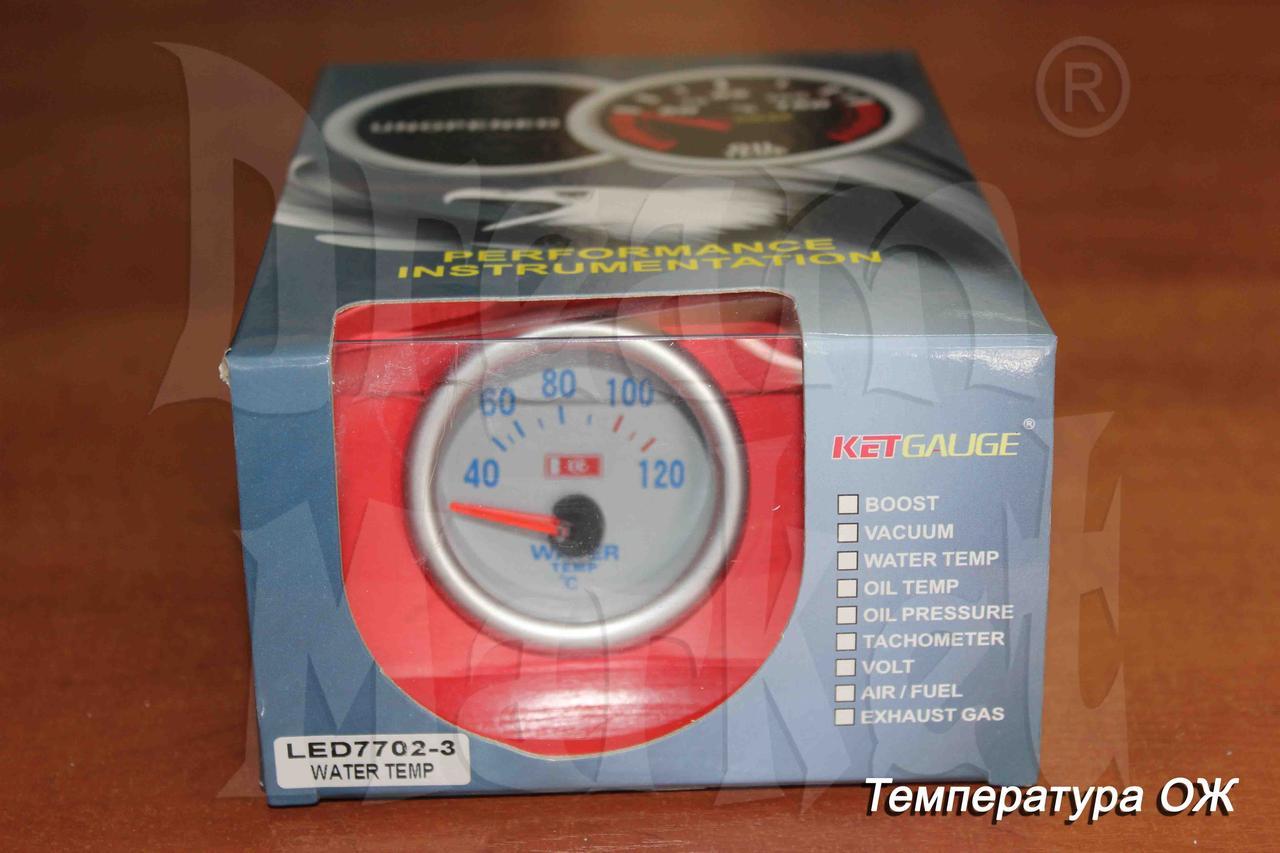 Датчик температуры охлаждающей жидкости KETGAUGE LED7702-3, стрелочный, подсветка, диаметр 52 мм