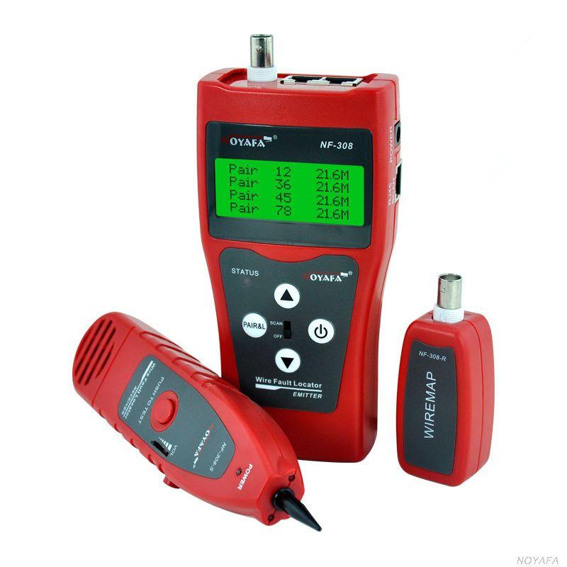 Многофункциональный кабельный LAN тестер N308 (RJ11+RJ45, USB, COAX, WIREMAP)+тон генератор+датчик