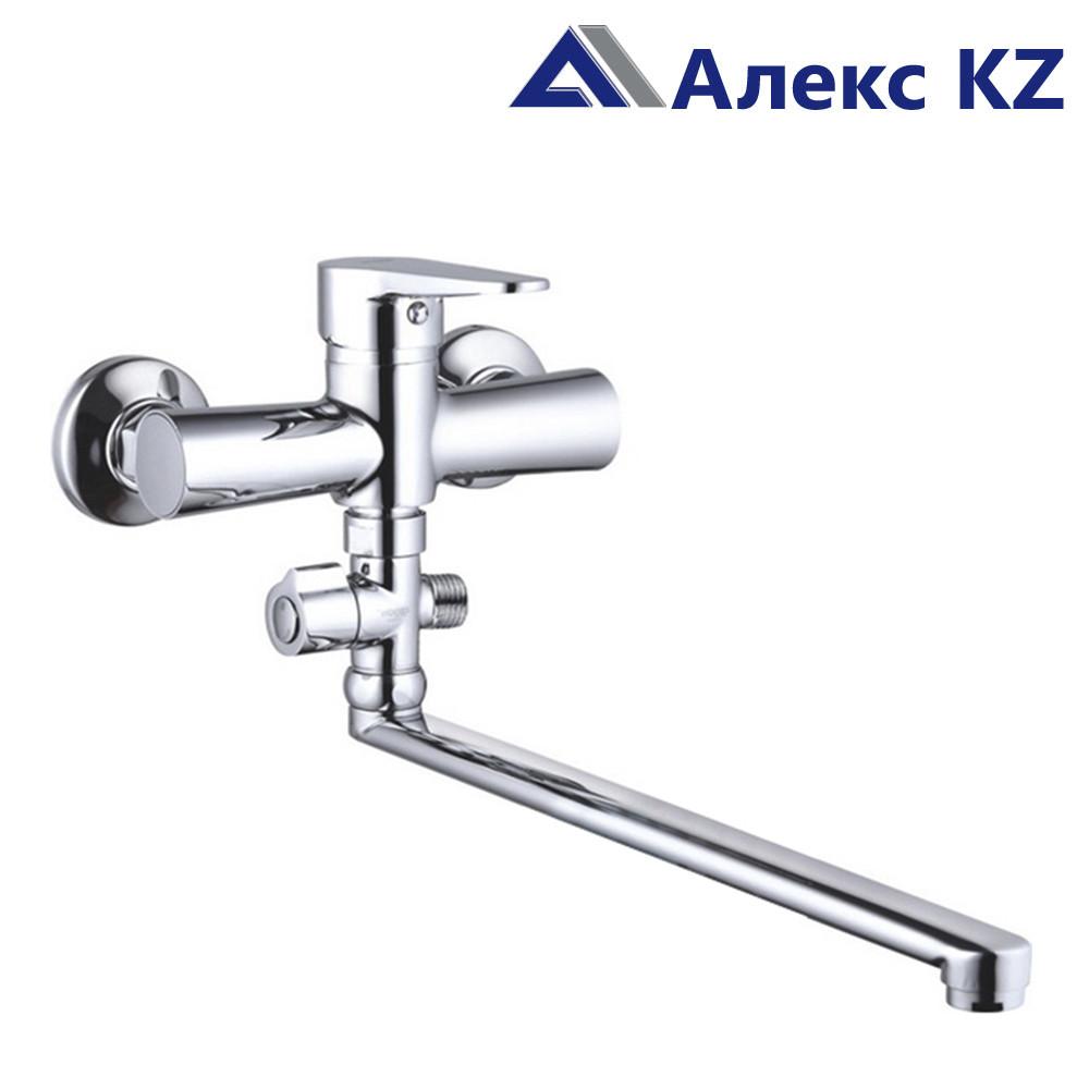 Смеситель  для ванны, одноручный, с поворотным изливом  ZEGOR PUD6-A045